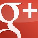 GooglePlus Square Gloss Red-128