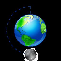 Moon phase full earth