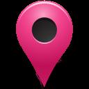 Map Marker Marker Outside Pink-128