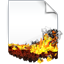 Burnind Document icon