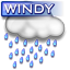 Windy rain Icon