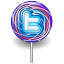 Twitter lollipop alt icon