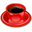 Coffee cup red Icon
