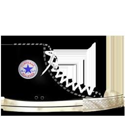 Converse Black dirty