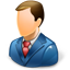 Business Man Blue icon
