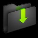 Downloads Black Folder-128