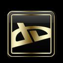 DeviantArt Black and Gold-128