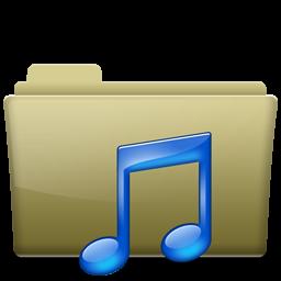 Folder Music Brown
