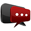 3D chat red Icon