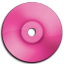 Cd DVD Pink Icon