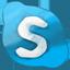 Skype hand drawned icon