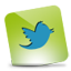 Twitter green hover icon