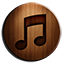 iTunes 10 Wooden icon