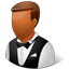 Waiter Male Dark Icon