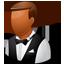 Waiter Male Dark-64