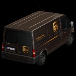 Van UPS Back