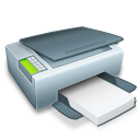 Printer with paper-128
