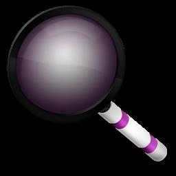 Magnifier purple