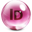 Adobe InDesign Glass Icon