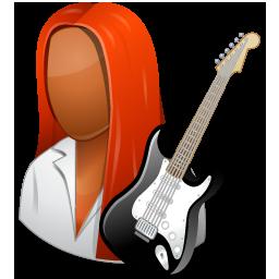Guitarist Female Dark