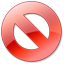 Cancel  red icon