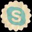 Retro Skype icon