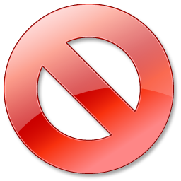 Cancel  red