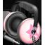Pinkstar Power headphones Icon