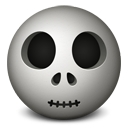 Skull emoticon-128