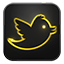 Twitter neon glow icon