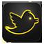Twitter neon glow Icon