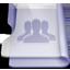 Purple group icon