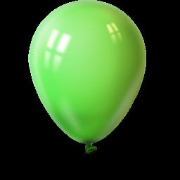 Ballon lime green