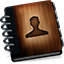 Contactsb Wooden Icon
