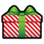 Gift red stripes Icon