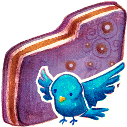 Birdie Violet Folder