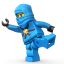 Lego Ninja Blue Icon