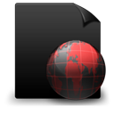 File Web black red-128