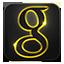 Google neon glow icon
