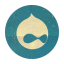 Retro Drupal Rounded-64