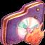 Burn Violet Folder icon