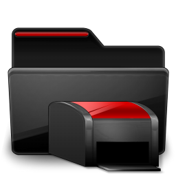 Folder Printers black red