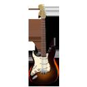 Stratocaster guitar orange-128