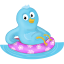 summer swim ring follow me icon