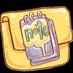 Folder Note Icon Download Harmonia Pastelis Icons Iconspedia