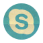 Retro Skype Rounded icon