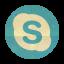 Retro Skype Rounded Icon