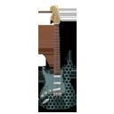 Stratocaster guitar metallicHoles-128