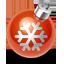 Xmas decoration red icon
