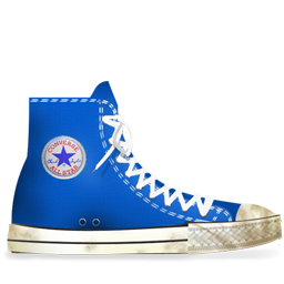 Converse Blue light dirty
